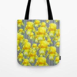 OODLES OF YELLOW IRIS GREY GARDEN ART Tote Bag