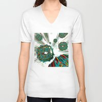 cyberpunk V-neck T-shirts featuring Coral Reef by Obvious Warrior
