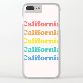 Retro California Clear iPhone Case