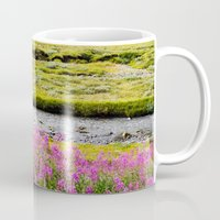 sweden Mugs featuring SWEDEN PINK by Hail Of Whales