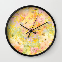 Buttercup Fields Forever Wall Clock