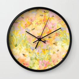 Buttercup Fields Forever Wall Clock