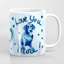 Love You More! Dog and Cat Watercolor  Coffee Mug