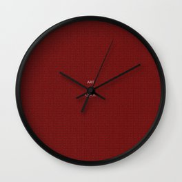 Art is cool red Wall Clock