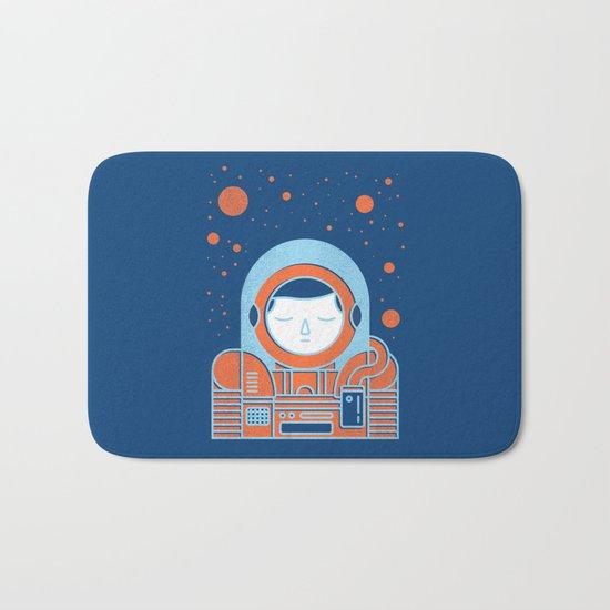 Orange Space Bath Mat