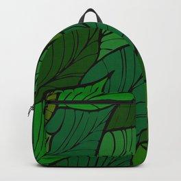 Lush / Leaf Pattern Backpack