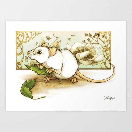 Wise Old Mouse Art Print