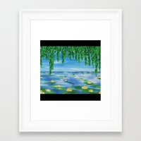 monet Framed Art Prints featuring monet scene by Cathy Jacobs