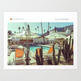 Pantone: Palm Springs Pool Art Print