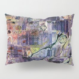 Storm In A Teacup II Mixed Media Painting Pillow Sham
