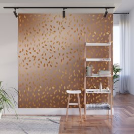 Golden Rain Wall Mural