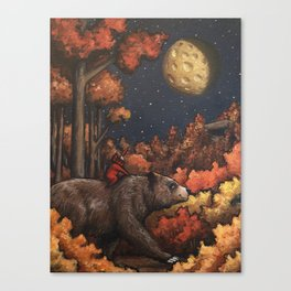The Woodsman in Autumn Canvas Print