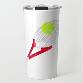 Tennis racket and tennis ball Travel Mug