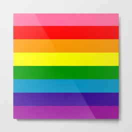 Rainbow Flag (Original Gay Pride Flag Colors) Metal Print