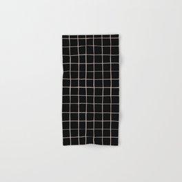 BASIC | Criss Cross Black Hand & Bath Towel