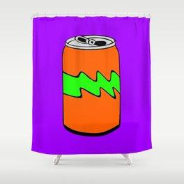 Purple Green & Orange Cartoon Soda Can Colourful Simple Art Shower Curtain