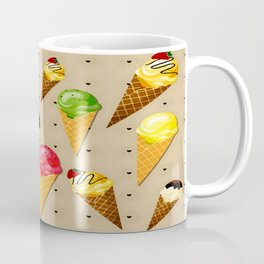 Ice cream hearts-Beige Coffee Mug