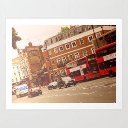 London Road Bus Art Print