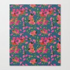 April blooms(Bougainvillea_blue) Canvas Print