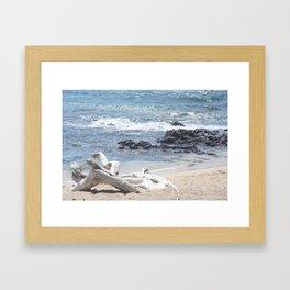 White Beach- Hawaii Framed Art Print