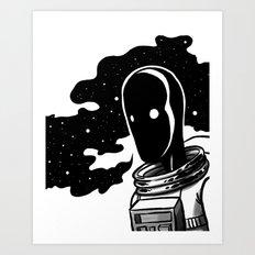 A Lot On My Mind Art Print