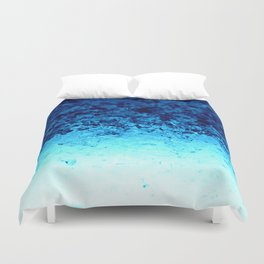 Blue Crystal Ombre Duvet Cover
