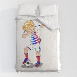 USA Soccer Player Dab Comforters