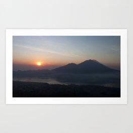 Mount Batur Sunrse - Bali Art Print