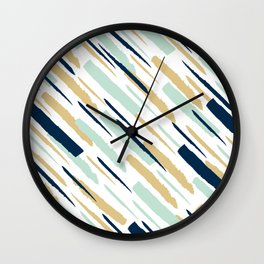 Diagonal strokes Wall Clock