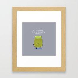 Introverted Jar Framed Art Print