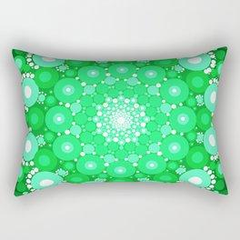 Emerald Mandala Rectangular Pillow