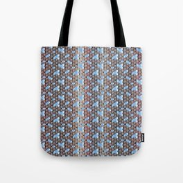 Traditional Japanese pattern YABURE-SEIGAIHA Tote Bag