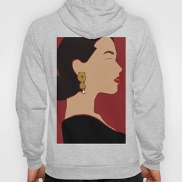 side profile woman portrait  Hoody