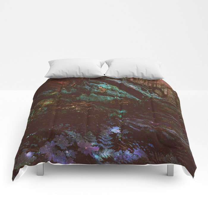Forest Wall Dark Fairy Landscape Comforters