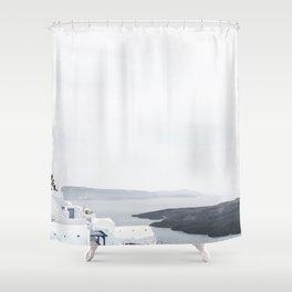 santorini 4 Shower Curtain