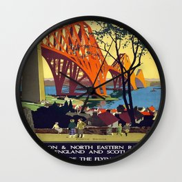 Vintage poster - Forth Bridge Wall Clock