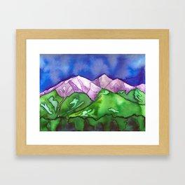 """Purple Mountains"" Framed Art Print"