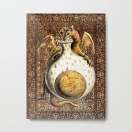 Alchemy Dragon - Garden of Beasts Metal Print
