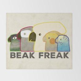 Beak Freak Throw Blanket