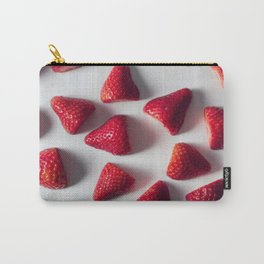 FRESH - CUT - STRAWBERRIES - PHOTOGRAPHY Carry-All Pouch
