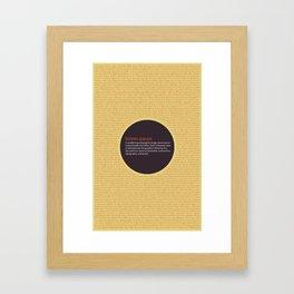 Lorem Ipsum Framed Art Print