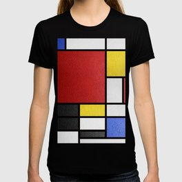 Mondrian in a Leather-Style T-shirt