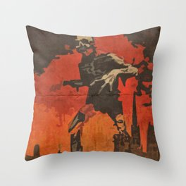 Do Your Part to Stop the Zombie Uprising Throw Pillow