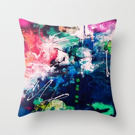 Colors Collide Throw Pillow