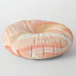 Marbled paper Floor Pillow