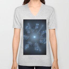 Fractal 29 blue star Unisex V-Neck