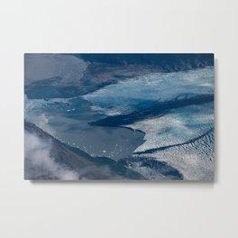 Aerial Glacier - Alaska Metal Print