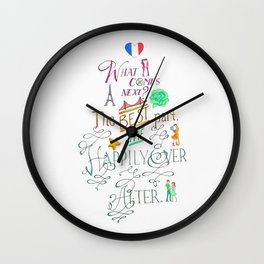 The Happily Ever After Wall Clock