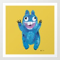 kevin russ Art Prints featuring Kevin by Kristina Joy Collins