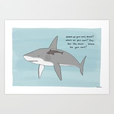 Hey Shark  Art Print